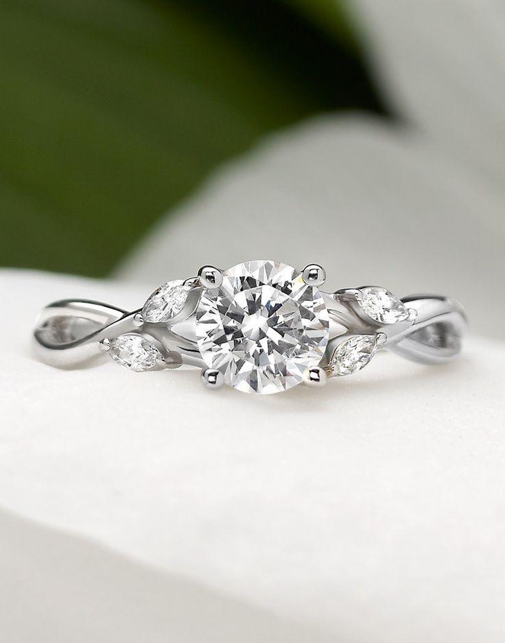 Petite Luxe Twisted Vine Diamond Ring Wedding