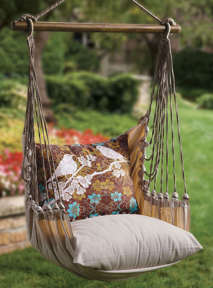 DIY Garden Swings Gardens, Swing chairs and Animales