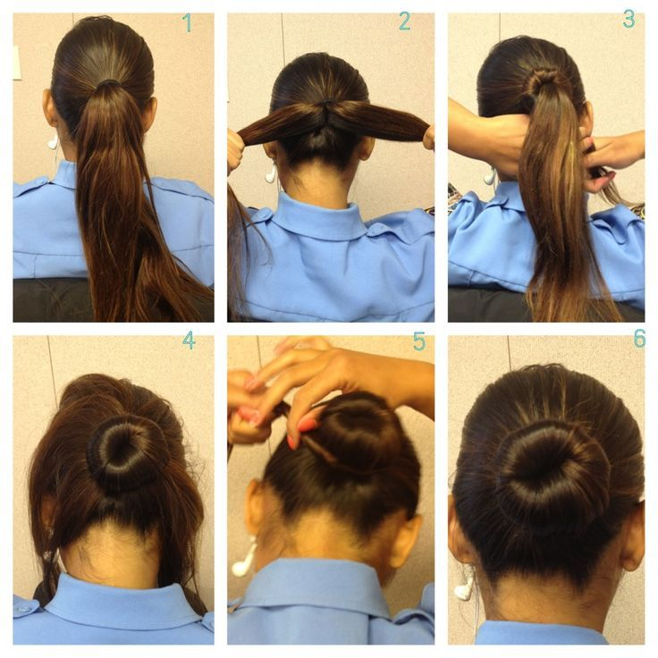 Easy Buns For Thick Hair Hair Pinterest Military