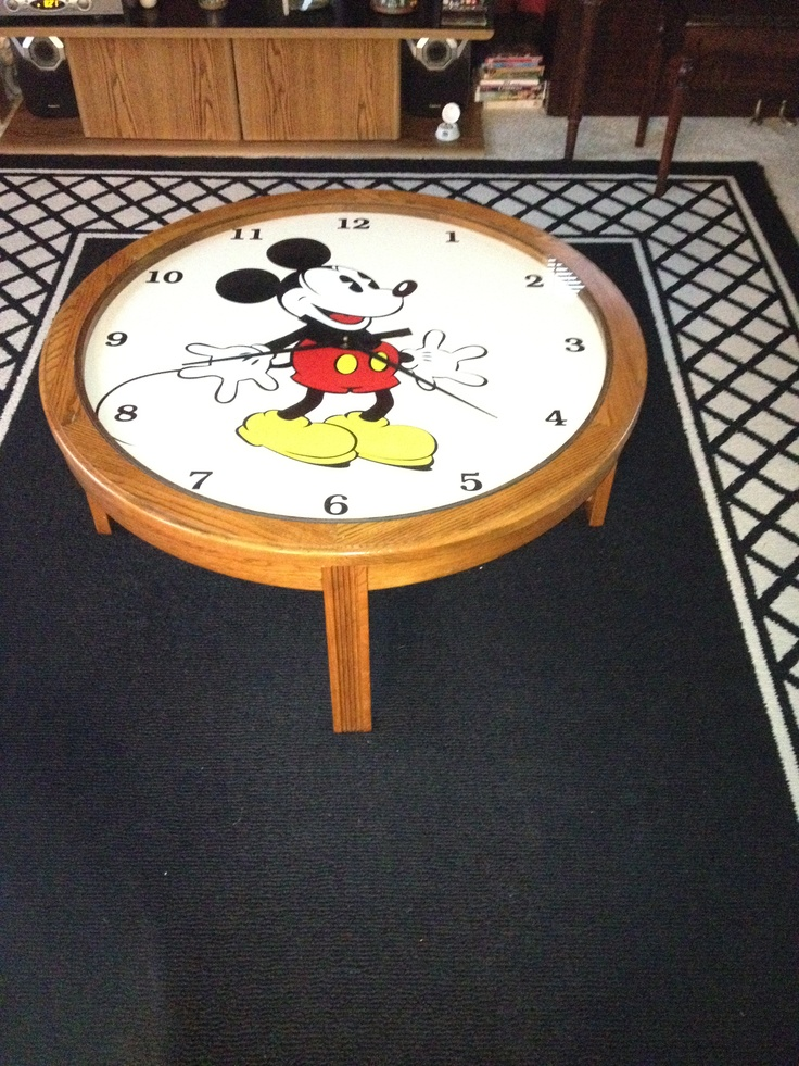 Mickey Mouse Working Clock Coffee Table Coffee Table