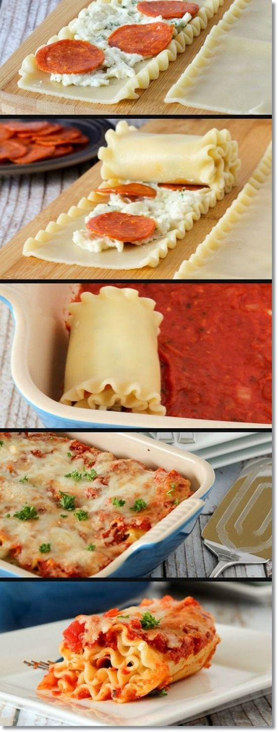 Pepperoni Pizza Lasagna Rol