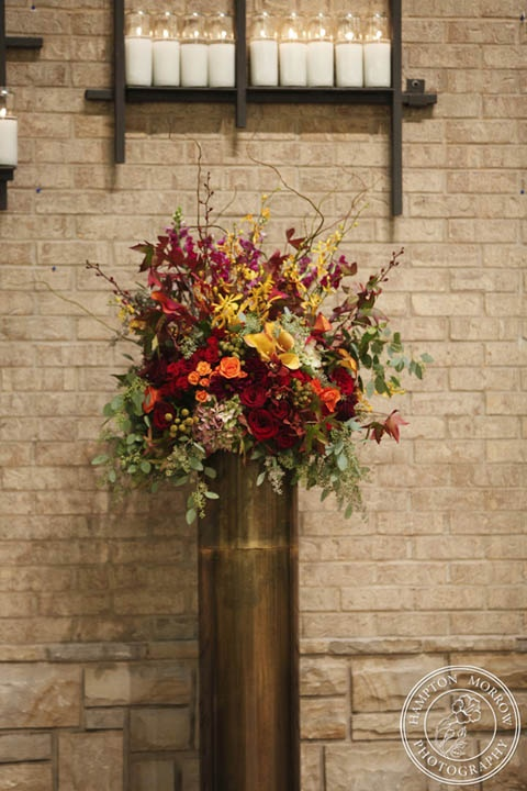 Fall Altar Flowers Autumn Inspired Wedding, Fall Colors