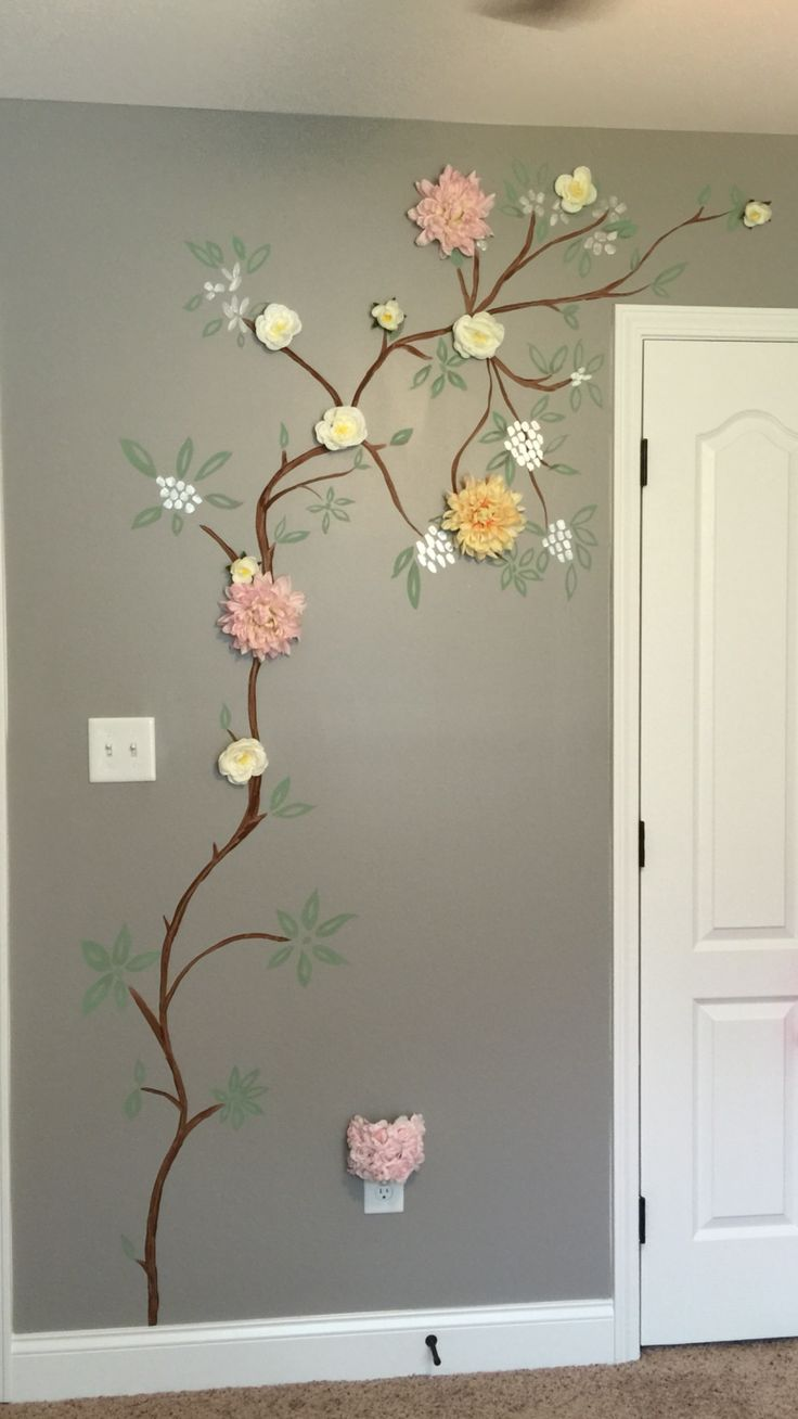 Painted Tree On Valspar Quot Rocky Bluffs Quot Walls Nora S Room