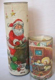Christmas candles — We still have have one of these in our Christmas decorations from the 80's, but it ha