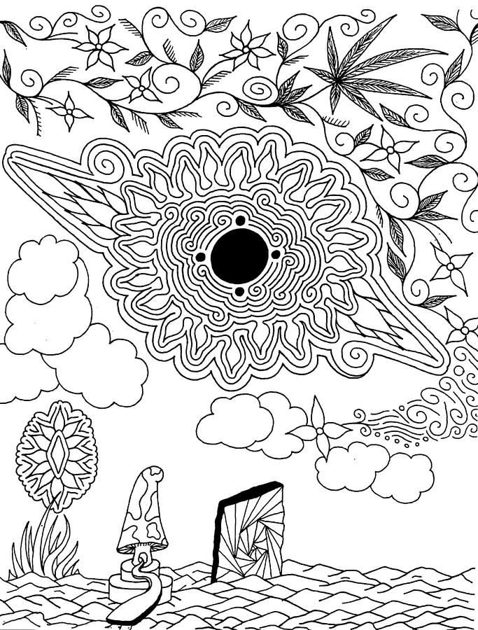 142 best images about coloring  420/shrooms on pinterest