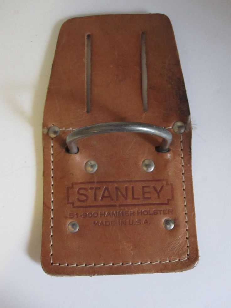 Stanley Hammer Holster 51 900 Leather Metal Ring Made In