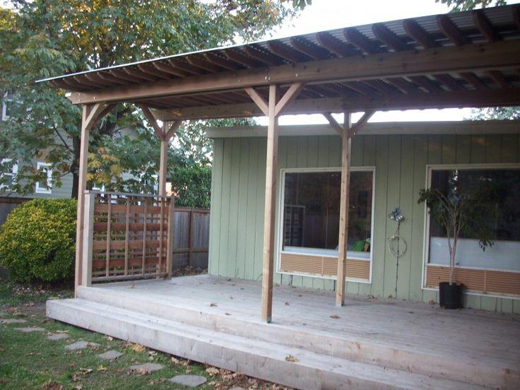 Pergola With Tin Roof Metal Roofing Pergola Corrugated
