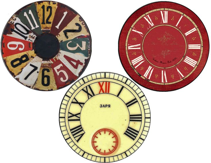 Clock face printables for cds.  I pinned something similar before, but the link is bust.  Boo.  But anyway, these are cd sized, 12 different designs, all cd sized and ready to print and mod