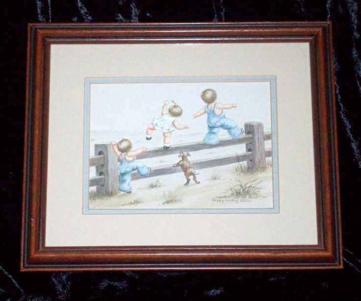 1982 Watercolor Painting Print Signed Artist Peggy Dickey