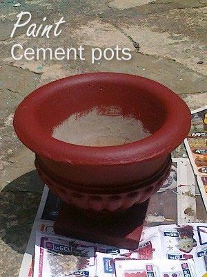 Cement Pots Paint Concrete And Pots On Pinterest