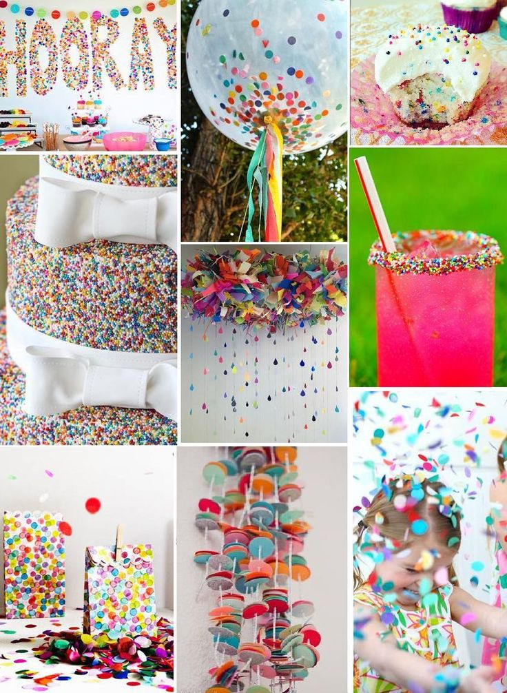 Confetti Party — Beyond Usual Rainbow Party Ideas