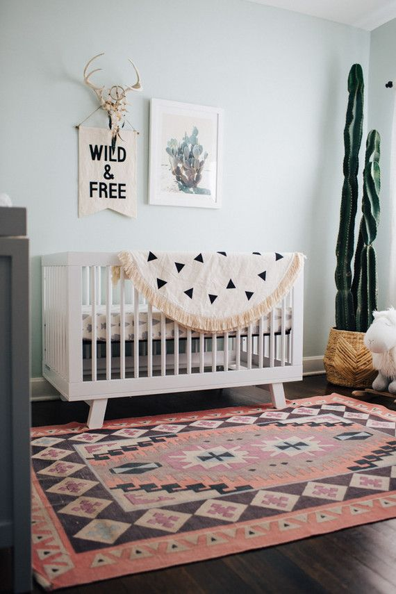 Project Nursery – Modern Nursery with Southwestern Decor