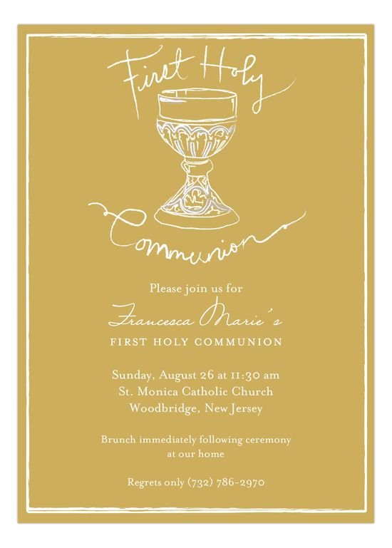 17 Best Images About First Communion Invitations On