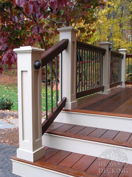 Wood Step White Riser Front Porch For The Home