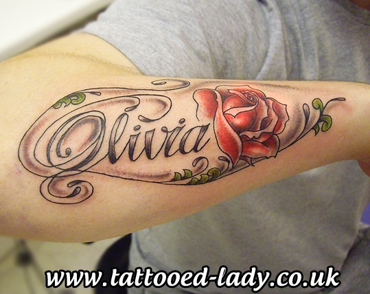 Name and rose Tattoo Ink Pinterest Names, Roses and