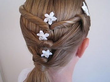 Baptism Hairdo - Twists & Knots