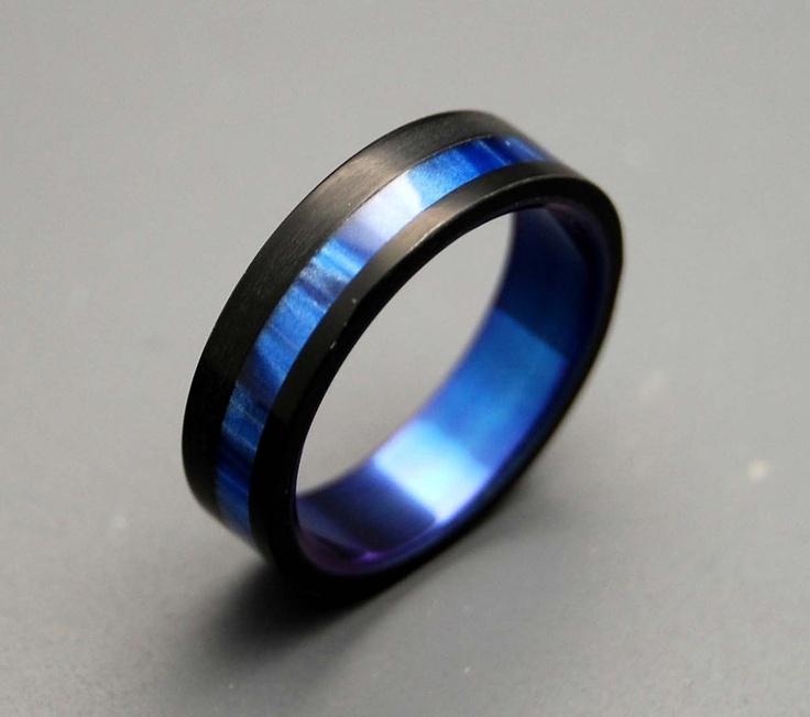 Mens Blue Wedding Bands Bing Images Thin Blue Line