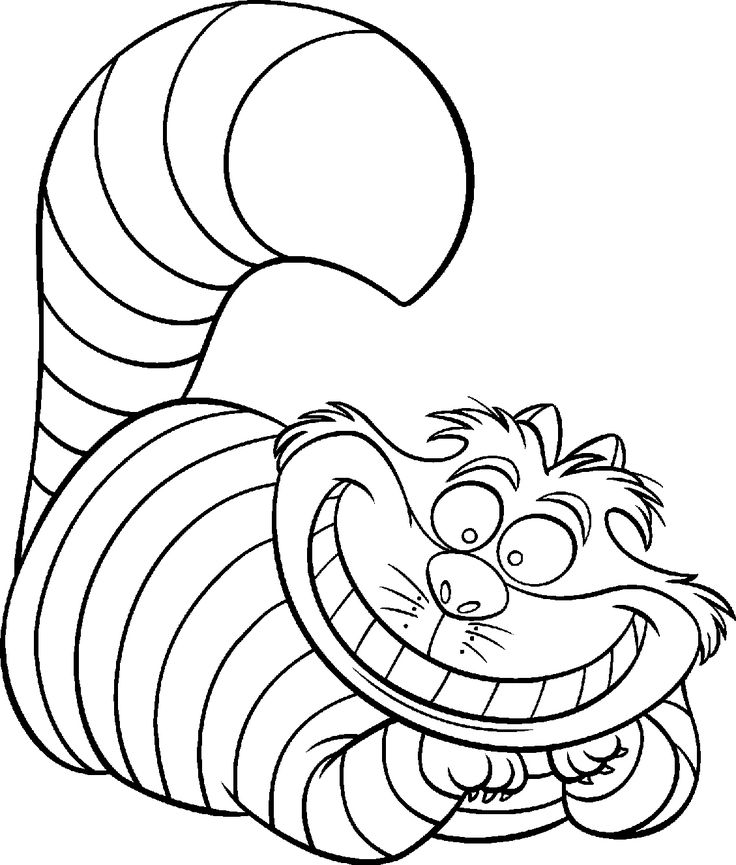 coloringpages cheshire alice in wonderland