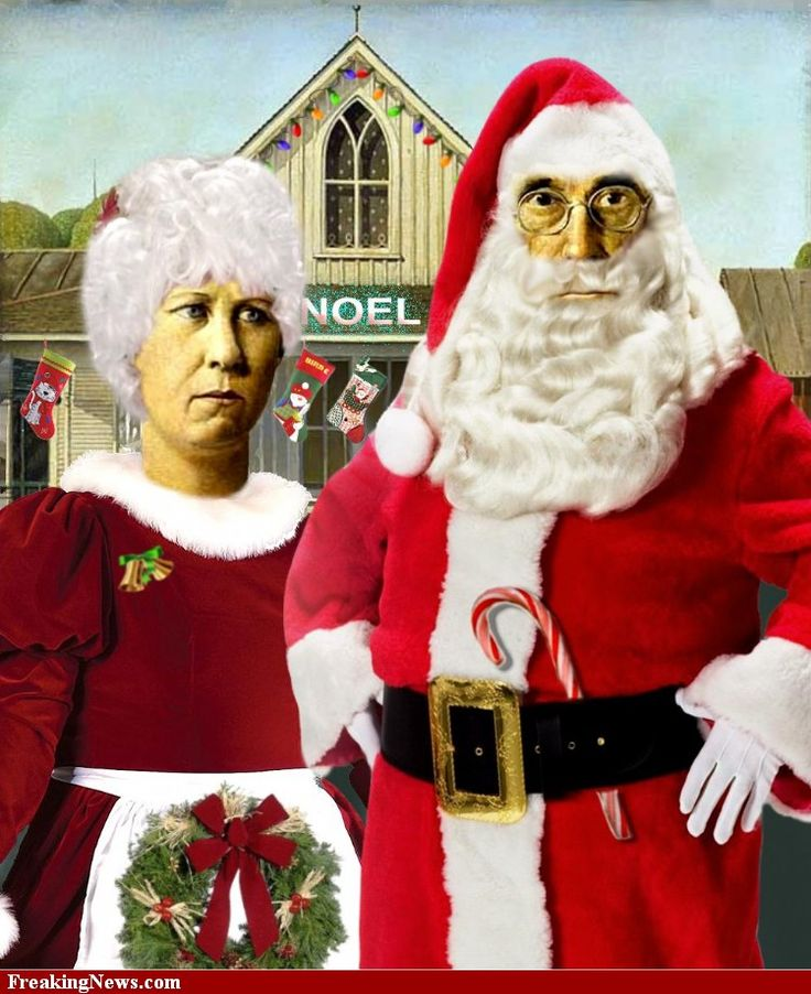 Santa American Gothic Art Parodies Pinterest House