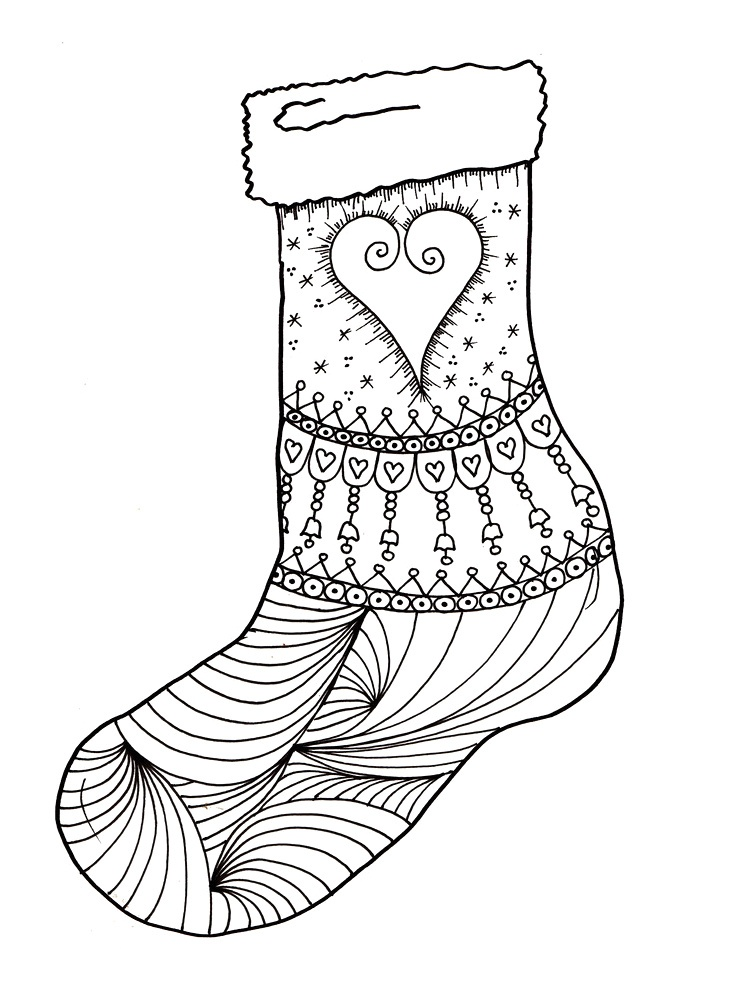 Empty Christmas Stocking Coloring Pages Hmfqfp Onlinenewyear2020 Info