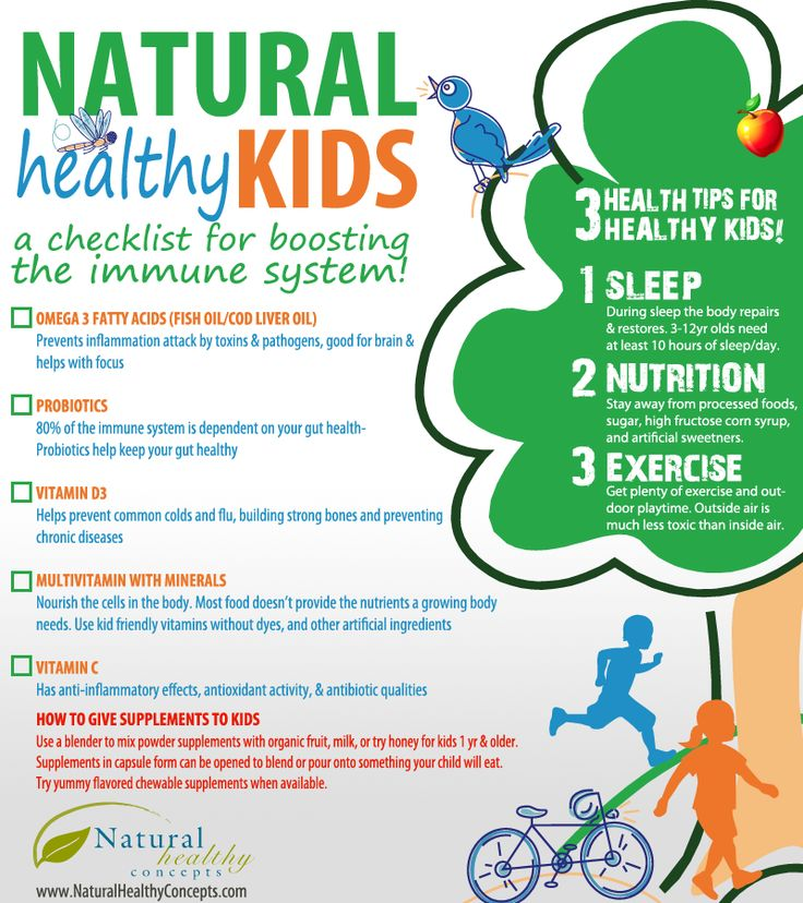 Boost Your Children's Immune System {Infographic