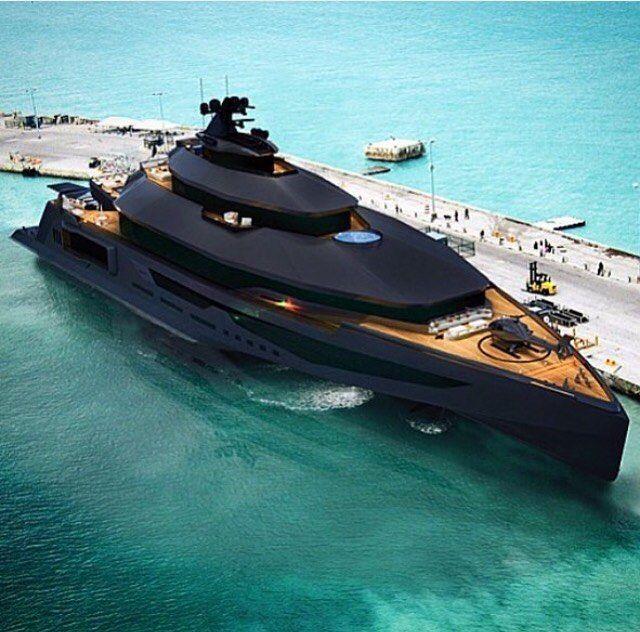 Black Matte Caliber Super Yacht Via