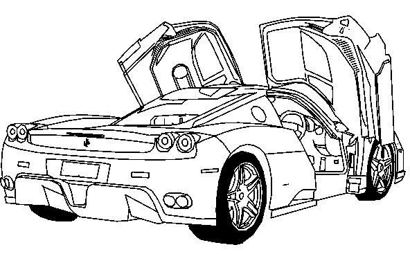 sports cars ferrari car and coloring pages on pinterest