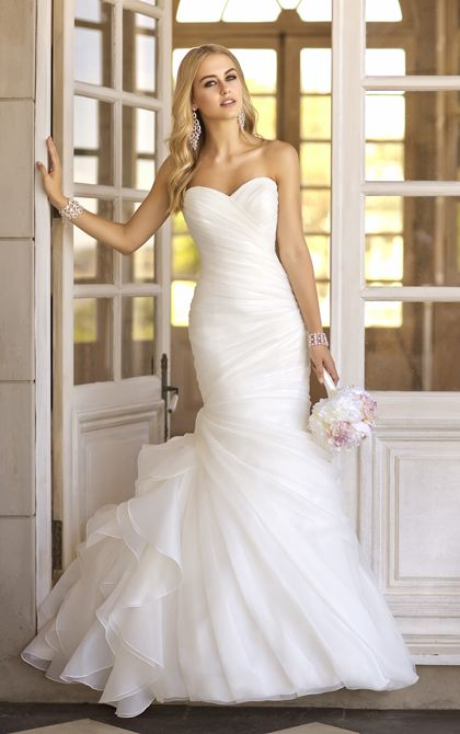Trumpet designer bridal gown with vintage charm from Stella York (Style – 5835)