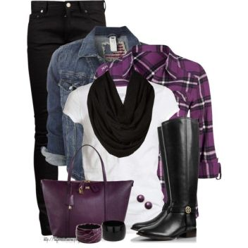 """Purple Power ~ October is Domestic Violence Awareness Month"" by tufootballmom on Polyvore:"