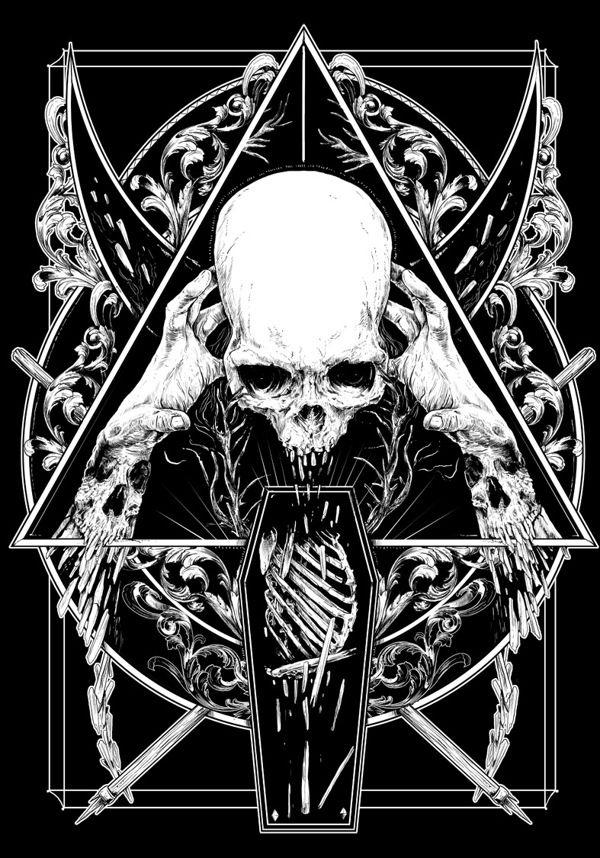 Die Besten 25 Totenkopf Illustration Ideen Auf Pinterest