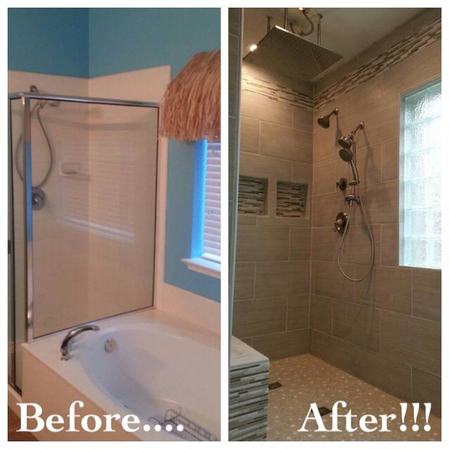Bathroom Remodel Removed Garden Tub To Make Room For A
