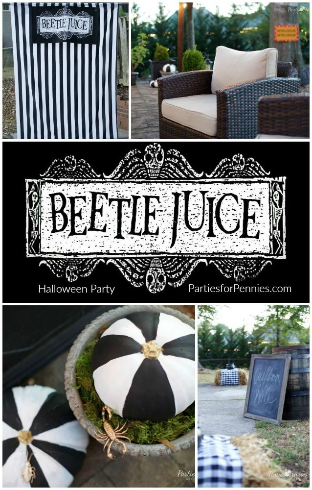 Beetlejuice Halloween Party Parties for PenniesParties