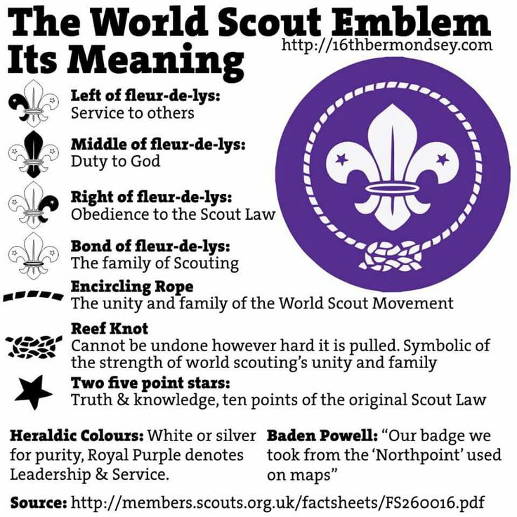 Meaning of World Scout Emblem Scouting Pinterest