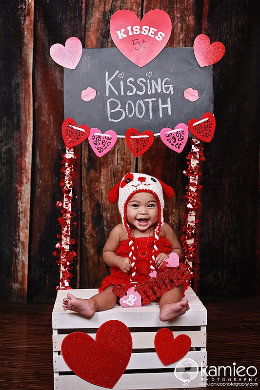 Baby Kissing Booth Photo Session Idea Valentine Prop