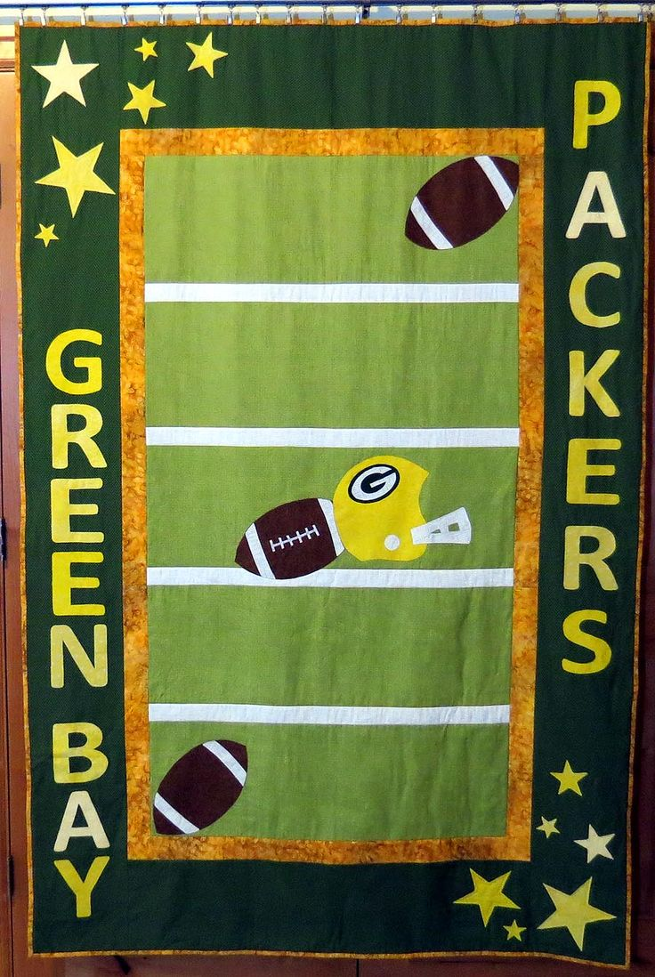 Green bay packers quilt 9 anniversary gift for my