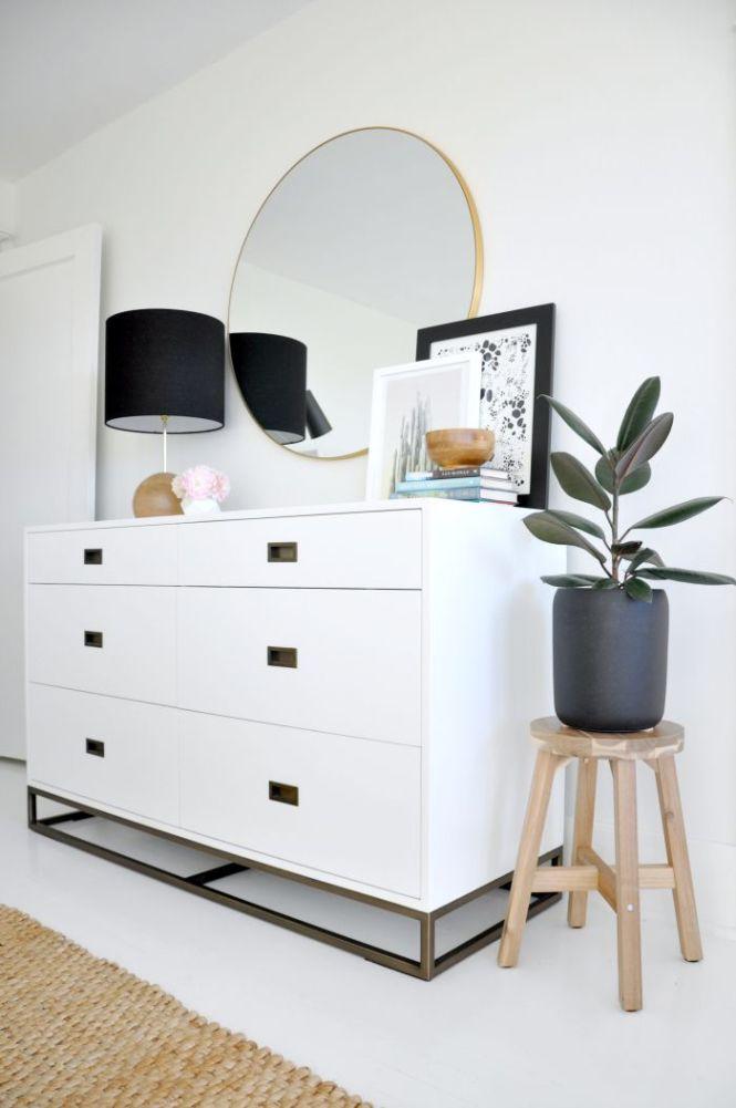 House Updated Modern White Dresser Walls Rh Round Br Mirror