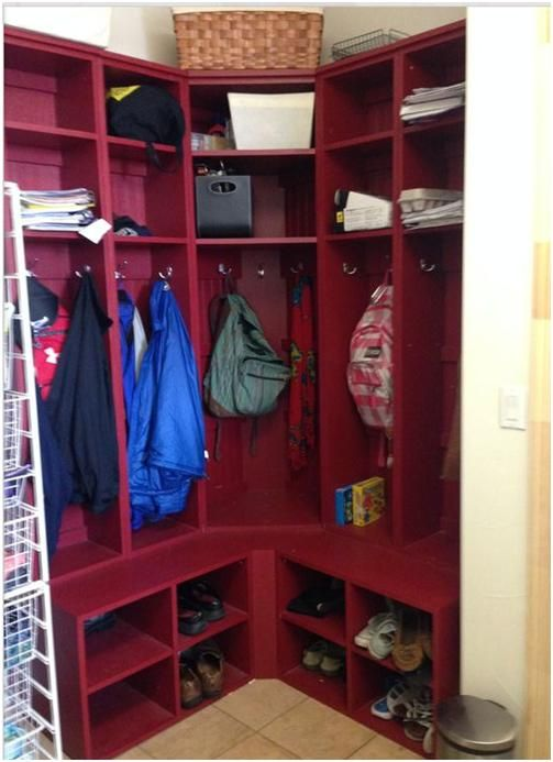 1000 Images About Small Corner Mudroom On Pinterest