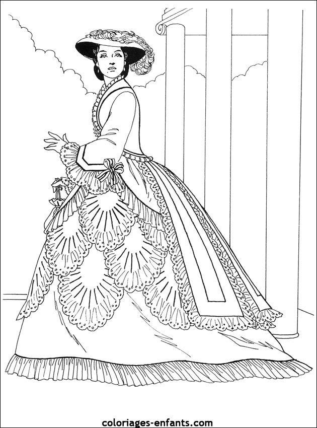 214 Best Images About Coloriage De Jolie Robe On Pinterest