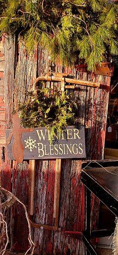 1000 Ideas About Primitive Winter Decorating On Pinterest