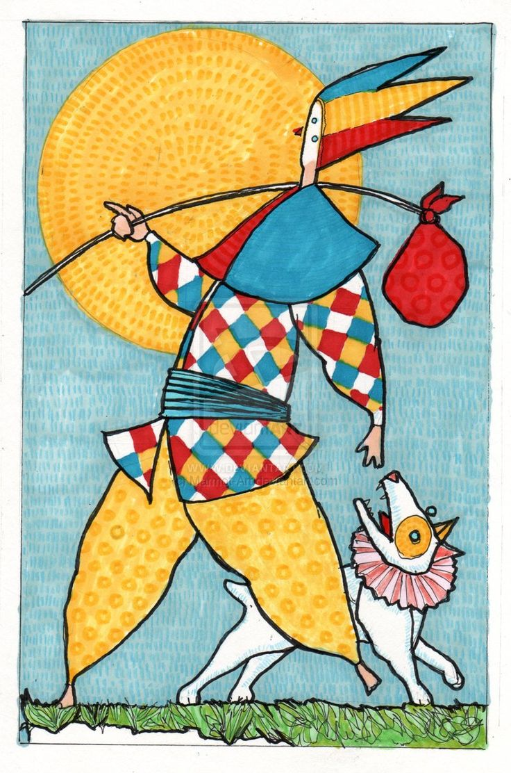 The fool tarot card by marmot in the cards pinterest