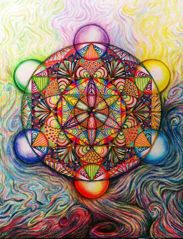 The Flower of Life Psychedelic Art Inspiration and