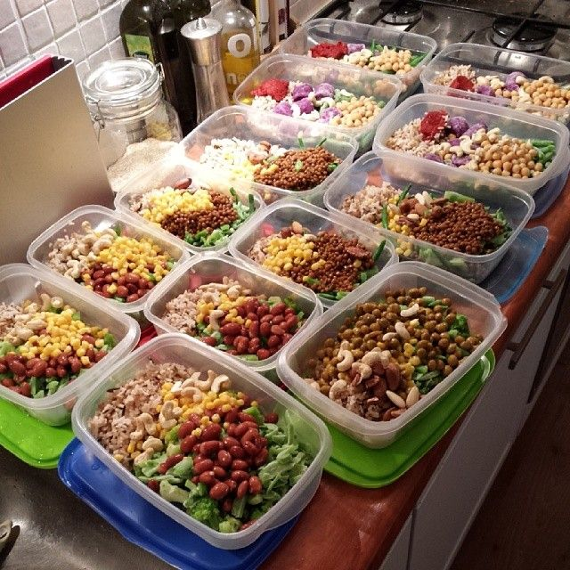 This week's mealprep is vegan. I substituted meat for nuts