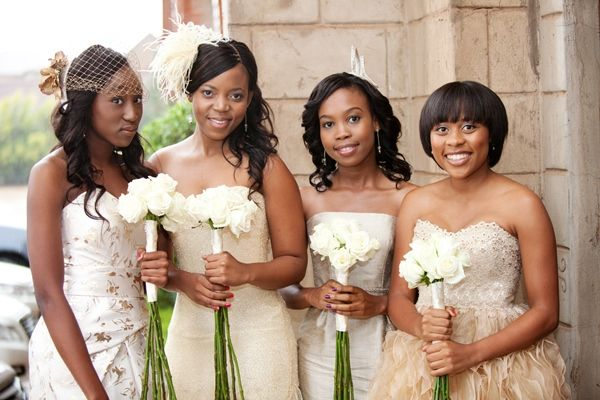 Modern Gold And Cream South African Wedding