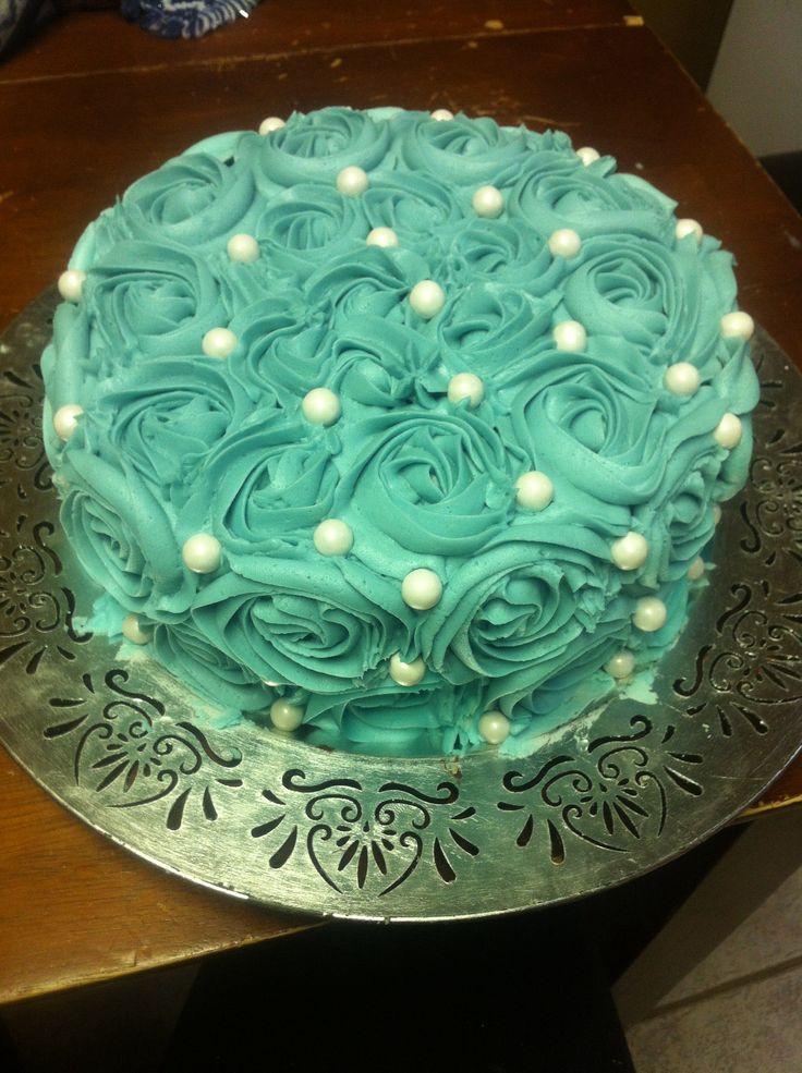 Rosette Cake Floral Cake My Cakes Pinterest Cakes