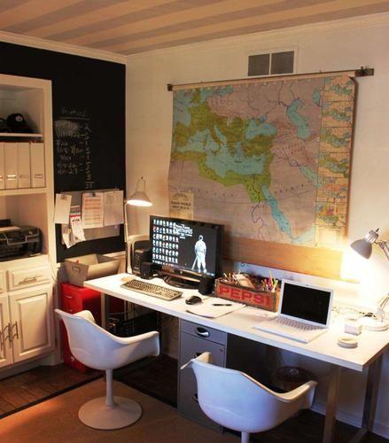 title   Dual Desk Home Office