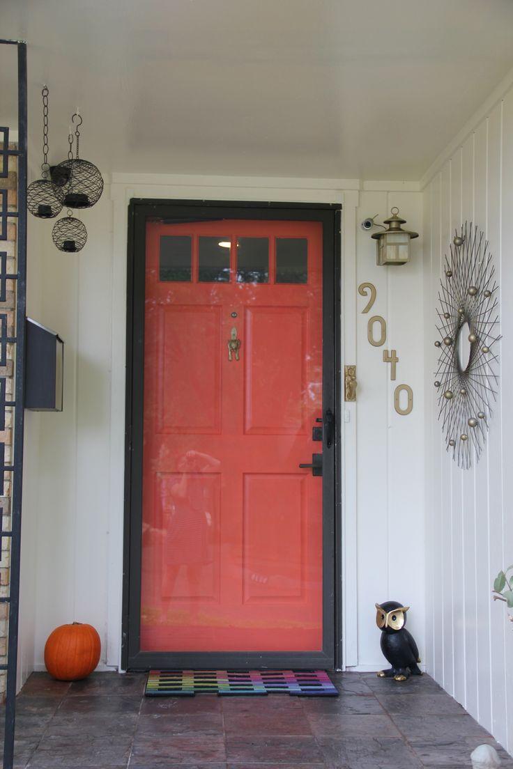 Coral Orange Door Behr Wet Coral Gold House Numbers