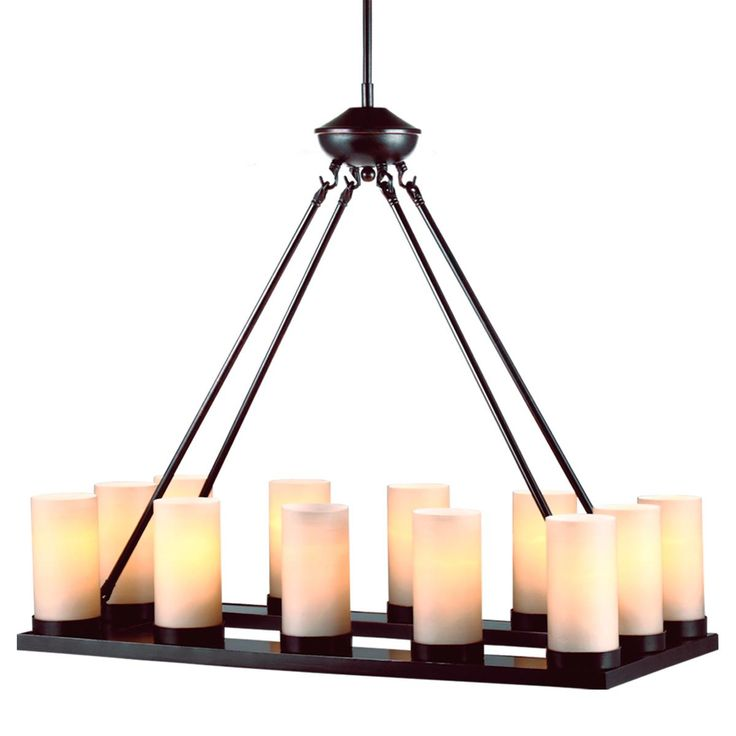 Rustic Chic Rectangular Tray Chandelier 12 Lights