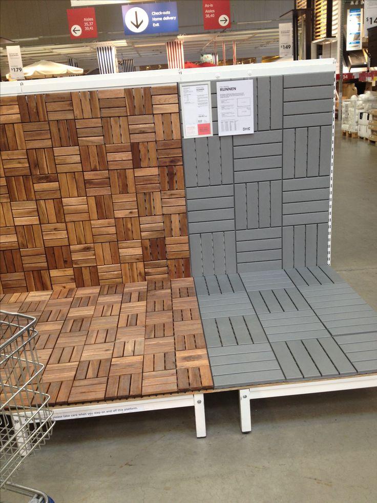 Ikea deck tiles patio pickmeup Pinterest Decking