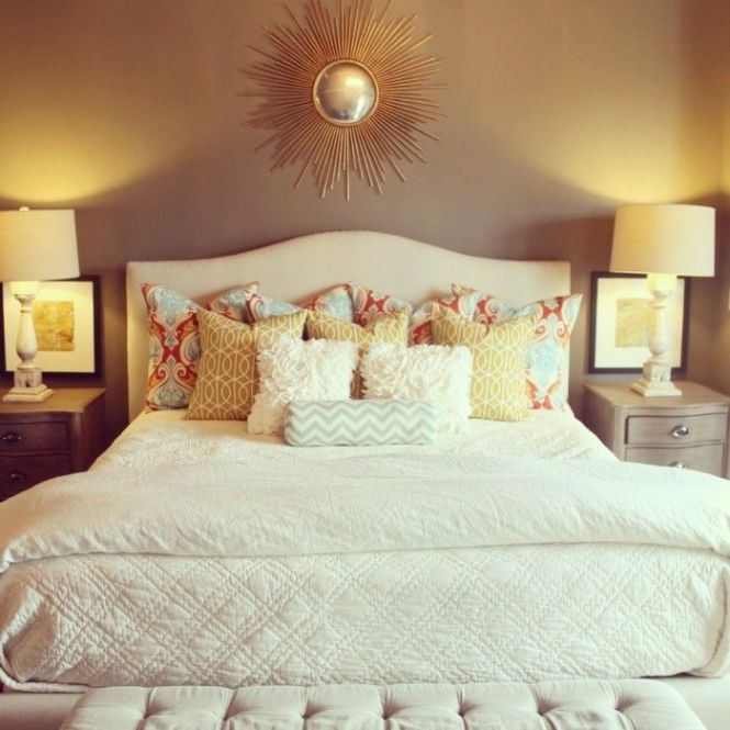 Simple Colors With Accent Pillows Amazing Master Bedroom