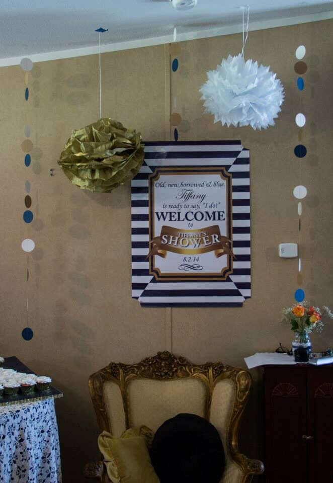 1000 Images About Navy Blue And Gold Bridal Shower On